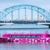 屋形船あみ達(あみたつ)のピンクのスイーツ屋形船で東京モダンな舟遊び